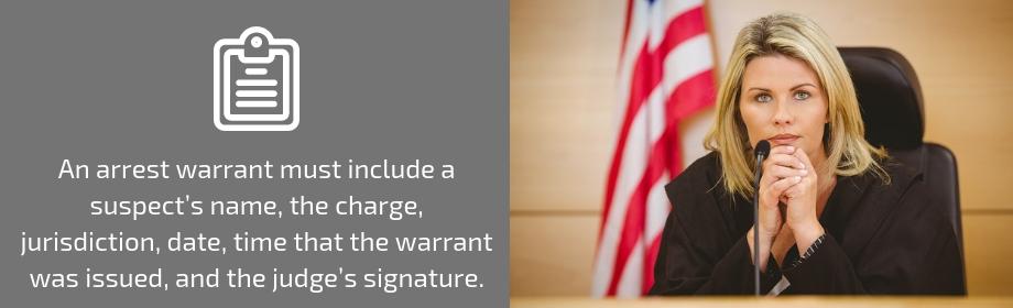 Judge Signing Arrest Warrant